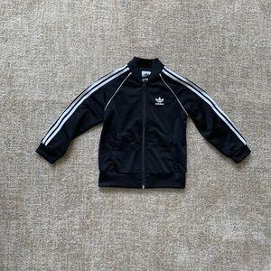 Adidas Kids SST Track Jacket Black + White 2-3Y